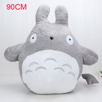 Wholesale totoro pillows - 90cm Big Size Totoro Plush Doll My Neighbor Totoro Lovely Cute Pillow soft Stuffed Plush Animal Dolls