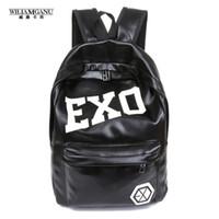 Wholesale Exo Bags - Wholesale- WILIAMGANU 2017 Hot Women's Colorful Pu Ackpacks Rucksacks Men Women Student School Bags for Girl Boy Casual Travel EXO Bags