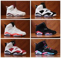 Wholesale Pink Star Shoes - 2017 Retro 6 IV Basketball Shoes Sneakers For Women & Men Wholesale High Quality Carmine Maroon White Oreo Sport Sneakers US 5.5-13