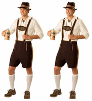 Wholesale German Christmas - Adult Halloween Costumes For Men Hot German Beer Costume Adult Oktoberfest Beer Festival Costume Mens carnival Cosplay Costumes