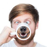 zakka kupalar toptan satış-Piggy Çay Kupa Yaratıcı Domuz Burun Porselen Kahve Kupa Kawaii Zakka Yenilik Ofis Arkadaş için Hediye