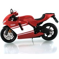 Wholesale Maisto 12 - 1:12 Maisto Ducati Desmosedici RR White Red Diecast Model Motorcycle New Delicate Educational Collection For Boy Gift Toys