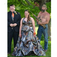 Wholesale Unique Garden - New Arrival Camo Wedding Dresses 2017 Sweep Train Plus Size Country Wedding Dress Pick-up Unique Camouflage Bridal Gown Custom Made