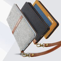 Wholesale Iphone Case Series - KALAIDENG Funwear-X Series Business Cases Linen PU Leather Wallet Card Pocket Case Flip Stand Cover for iPhone 7 6 Plus