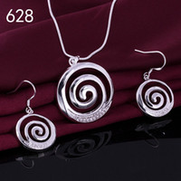 Wholesale women s gemstone sterling silver jewelry set mixed style same price wedding silver Necklace Earring jewelry set GTS26a