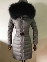Wholesale White Long Coat For Women - M247 parkas for women winter jacket real natureal fox fur long warm anorak women coats parka women jackets
