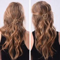 épingles à cheveux coeurs achat en gros de-20 PCS NOUVEAU Mode Femmes Filles Star Coeur Pince À Cheveux Délicat Cheveux Pin Barrette Décorations Bijoux