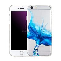 Wholesale Iphone 5s Case Fashion Clear - For Samsung S8 plus New Mermaid Style Transparent Soft TPU Case For Iphone 7 6 6s Plus 5 5s SE Case Silicone Fashion Cover Opp Bag