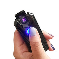 Wholesale Water Lighter - Dual Arc USB Plasma Electric Rechargeable Lighter ZB-390 (Fashion Gorgeous Bright), Flameless, Windproof, Water Resistant, No Butane.