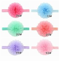 Wholesale Color Hair Bands - Hot children's headwear environmental protection organza tape Hair band Headband 6 color