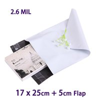 Wholesale Mail Wire - 20 Pcs White Poly Mailer Plastic Mailing Bag Small Envelope Packaging Shipping Bags 17x25cm Envelopes Polybag Mailbag