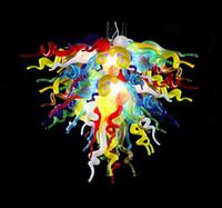 lustres de cristal multi coloridos venda por atacado-Qualidade superior Mini Lustre Luzes Frete Grátis Multi Colorido Quarto de Vidro Soprado Lustre de Cristal Lâmpadas De Cristal
