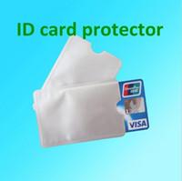 mangas de tarjetas de envío gratis al por mayor-Envío gratis 2000 unids aluminio Anti RFID manga de bloqueo titular de la tarjeta de crédito Proteja su dinero y su identificación