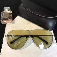 Wholesale Brown Linda - Linda Farrow Luxury Fashion Sunglasses With Coating Mirror Lens UV Protection Lens Popular Brand Designer Titanium Round Frame Top Quality