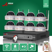 ANRAN CCTV 8CH P2P 1080P WIFI NVR 30 IR ao ar livre Vandal-Proof Dome Vídeo Wireless IP Camera Surveillance Security System 3TB HDD