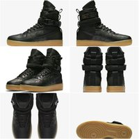 Wholesale Gum Drop - Drop Shipping Famous Special Forces Force 1 One Boots Black Gum Light Brown 859202 009 Mens Womens Sport Athletic Trainers 36-45