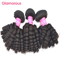 Wholesale hair pieces for babies - Glamorous Virgin Remy Hair Weave Baby Curly Human Hair 3 Bundles Unprocessed Malaysian Indian Peruvian Brazilian Human Hair Weaves for women