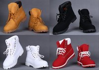 Wholesale Cheap Winter Ankle Boots - Wholesale 2016 Winter Snow Boot Cheap Yellow Red Waterproof Outdoor Work Boots Leather Hiking Shoes Leisure Ankle Boots For Women