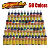 Wholesale tattoo 3d new - New Solong Tattoo ink Eter-nal Tattoo Ink Set 50 Colors 1oz 30ml Bottle Tattoo Pigment Kit for 3D makeup beauty skin
