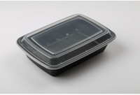 Wholesale ml Black Disposable Lunch Box Containers Meal Prep the People Lunch for Women With The Microwave Oven