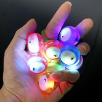 Wholesale Led Light Roll Colors - LED Glow light Thumb Chucks Control Roll Game Finger Yo-Yo Ball FBegleri Hand Fidget 4 Colors Thumb Chucks ADHD Anti Stress Novelty Toys