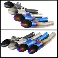 Wholesale exhaust for scooter - 355mm Universal 52mm Motorcycle Exhaust Pipe Laser Mark GP HP With Dirt Street Bike Scooter Tail Pipe For YamahaR6YZF Huanglong 300
