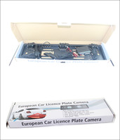 Wholesale Parking Sensors Drill - EU European License plate car parking sensor NO drilling LCD LED four sensors human voice Bibi sound 64 colors to choose Free DHL