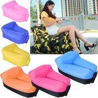 Wholesale hot Inflatable Neck Pillow Lounger Air Sofa Chair Comfortable Outdoor Beach Camping Hiking Lazy Sofa Bed OTH526