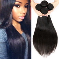 Unprocessed Brazilian Virgin Straight Hair Extensions Brazilian Human Hair Weave 4 Bundles Soft Cheap Remy Hair Nature Black by Cosy