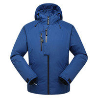 Wholesale Snowboard Jacket Down - Wholesale- Free Shipping Men's Snow Clothes White Duck Down Snowboard Jacket Men Skiing Ski Coat Thermal Skiing And Snowboarding Jacket