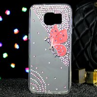 20PCS Para Samsung s7 s8 s7edge s6 s6edge s8plus s4 NOTA 5 NOTA 4 NOTA 3 Color diamond Butterfly Pearl Rhinestone phone case