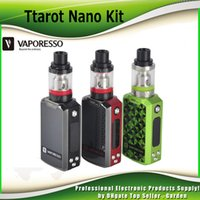 Wholesale Nano Green - Original Vaporesso Tarot Nano TC Starter Kit with 2500mAh Battery 80W Tarot Nano Box Mod 2ml VECO EUC Tank 100% genuine DHL Free 2241011