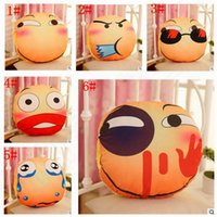 Wholesale hand warmer pillow - Emoji Hand Warm Plush Hold Pillow Stuffed Animal Soft Toy Cushions Plush Pillow Hand Hold Warm Plush Cotton Cushion 40*40cm B1130