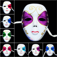 Wholesale Street Dance Costumes - Fashion Handpainted Colored Drawing Street Dancing Mask Hip Hop Masks Ball Party Costume Full Face Style