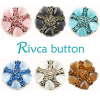 Wholesale Wholesale Metal Beads China - D01959 Rivca Snaps Button Jewelry Hot wholesale High quality Mix styles 18mm Metal Ginger Snap Button Charm Rhinestone Styles NOOSA chunk