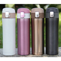 Venda por atacado - 4 cores Home Kitchen Vacuum Flasks Thermoses 420ml Aço inoxidável Isolado Thermos Cup Coffee Mug Travel Drink Bottle