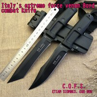 Wholesale military blades resale online - Italian extreme force venom Boyd combat knife the blade material N690 HRC camping hunting military survival knife hand tools