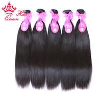 бразильские волосы прямые оптовых-Queen hair products Virgin бразильский человеческих волос прямой смешанный размер 5 шт. лот 8