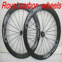 Wholesale Ems Carbon Fiber Bike - Free shipping By EMS 50mm full carbon fiber cycling bike wheels UD matt finisn clincher road bike wheels 23mm wide 700C carbon wheelset