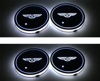 Nuova luce di decorazione della stuoia dell'automobile della stuoia dell'automobile della stuoia dell'automobile del LED per Bentley 2pcs / set con la luce bianca