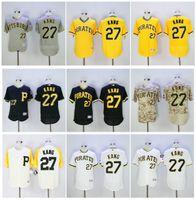 Wholesale Style Ho - Men's #27 Jung Ho Kang Jersey Pittsburgh Pirates Baseball Jerseys Flexbase Elite Style White Grey Black Yellow stitched Authentic Shirt