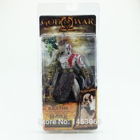 "Wholesale Neca God War Kratos - God of War 1pcs 7.5"" NECA God of War Kratos in Golden Fleece Armor with Medusa Head PVC Action Figure Collection #GOW002"