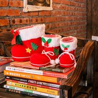 Wholesale Christmas decorations children gifts candy boots small gift bags holiday Christmas socks