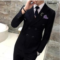 Wholesale New Style Professional Dresses - New style A three-piece suit men in the summer of cultivate one's morality dress professional suit the groom's best man wedding dress