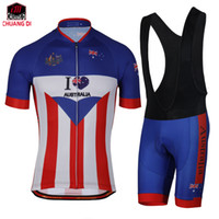 Wholesale Australia Cycling Jersey - Australia Cycling Jerseys Short Sleeve Bike Bicycle Clothes 100% Polyester Cycling Shirt Quick Dry Cycling Clothing