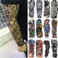 Wholesale Unisex Body Art Full Arm Tattoos Styles Waterproof Temporary Water Transfer Tattoos Body Art Stickers x16cm
