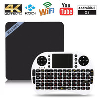 ii caja de tv android al por mayor-Mini M8S II Smart TV Box 4K Amlogic S905X Quad Core Android 6.0 2.4GHz WiFi BT 4.0 Reproductor de medios 2GB 8GB Set-top box