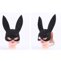 Wholesale Lady Rabbit Costume - Wholesale-1 pc Lady Sexy Bondage Masquerade Bunny Rabbit Mask Adult Halloween Costume Accessory WA125 P20