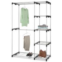 Wholesale adjustable clothes hangers for sale - Closet Organizer Storage Rack Portable Clothes Hanger Home Garment Shelf
