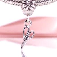 Wholesale Authentic Pandora Vintage - Authentic 925 Sterling Silver Sterling Silver Vintage Scissors Dangle Charm Fit DIY Pandora Bracelet And Necklace 791113